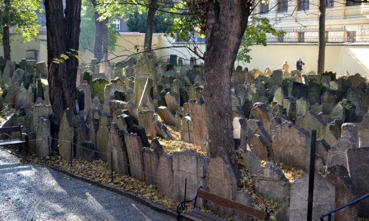 Visita ao cemitério judeu de praga